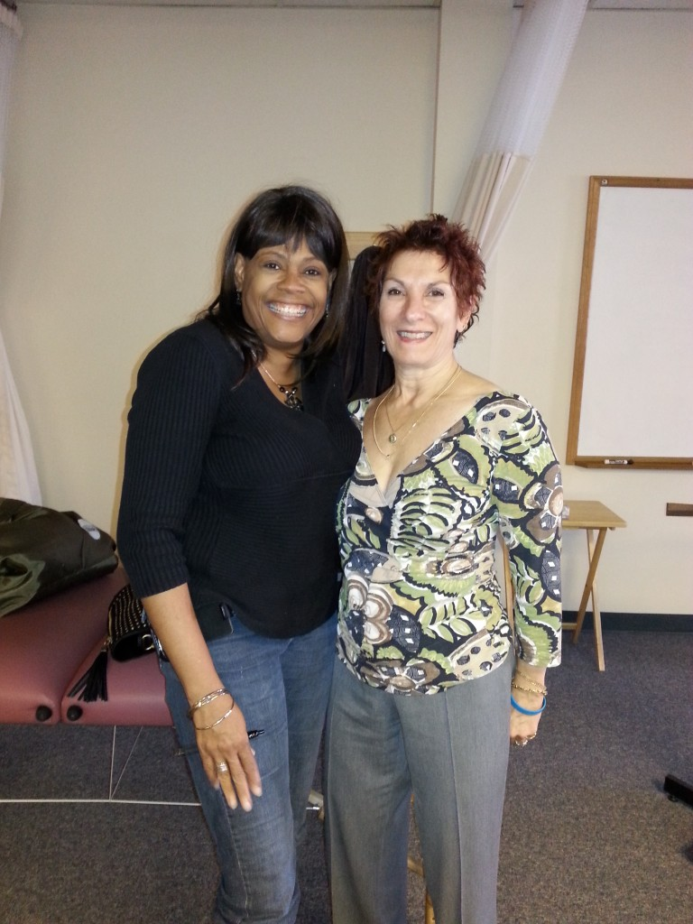 Elaine Stillerman and I at training in Conn.
