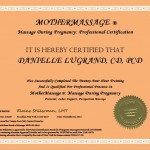 MotherMassage Certificate