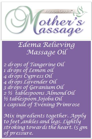 Edema Relieving massage Oil